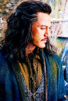 """ 24/100 pictures from The Hobbit "" Luke Evans- Bard"