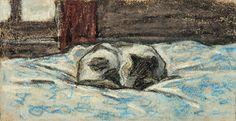 hanselfrombasel:  claude monet's pastel portrait of his feline friend