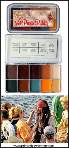 "The Skin Illustrator ""Ve's Pirate Palette II"" was custom designed by 3-time Academy Award winning Makeup Artist, Ve Neil, for use on the movie,"" Pirates of The Caribbean: Dead Man's Chest"".  These colors will give you a range of ability to do a fair amount of skin tones along with blood effects, bruising and a variety of other distressed effects."