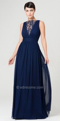 Lace Decolletage Evening Dresses by Aidan Mattox-image