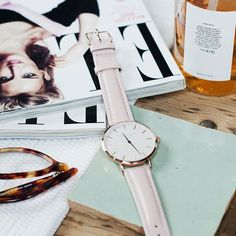 Don't forget to take time to relax sometimes... ELLE magazine and this pink watch will do.