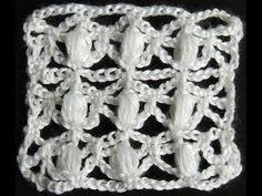 Crochet : Punto Puff Enrejado