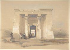 David Roberts,The Temple at Dendur, Nubia, 1848