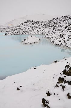 Winter Vacation at Blue Lagoon Geothermal Spa In Reykjavik Iceland