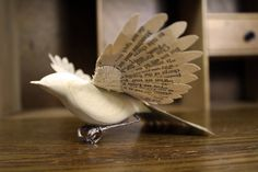Zack Mclaughlin, Hand made paper and wood Robin on Etsy