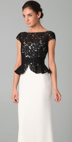 How can you wrong with black & white ( and Marchesa + peplum)?
