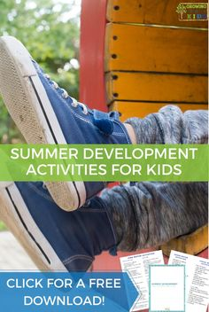 Get a list of summer development activities for kids with fine motor, gross motor, and visual-motor activity suggestions. Visual Motor Activities, Play Therapy Activities, Fun Activities For Kids, Hands On Activities, Educational Activities, Gross Motor, Fine Motor, Special Educational Needs, Play Therapy Techniques