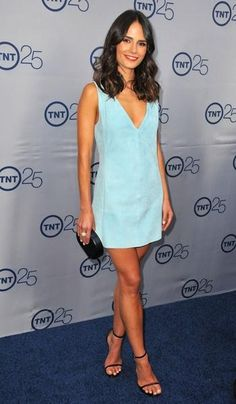 Jordana Brewster shows off her sweet side in this simple Balenciaga number.