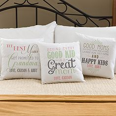 Loving Words To Her Personalized Throw Pillow