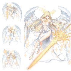 Fantasy Character Design, Female Character Design, Character Design Inspiration, Character Art, Anime Fantasy, Fantasy Girl, Anime Art Girl, Anime Angel Girl, Anime Warrior
