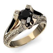 Znalezione obrazy dla zapytania złoty pierścionek z czarnym diamentem