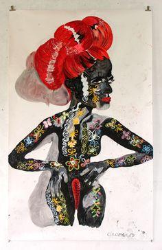 """Circumcised"" made by my teacher from the art academy: Charlotte Schleiffert ! Beatitudes, Art Academy, Sculpture, Black People, Art Blog, Charlotte, Illustration Art, Superhero, Portrait"