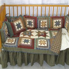 Patch Magic Cottage Star 9 Piece Crib Bedding Set   Wayfair