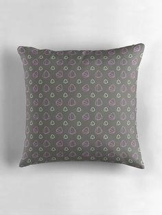 Grey Cushion Grey Pillow Cushion Grey and pink throw