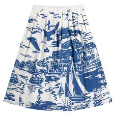 Harbour View Cotton Voile Skirt | Cath Kidston |