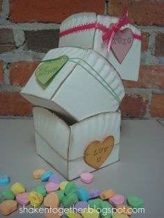 Paper plate boxes for cupcake - to - go and Chex Mix, teacher gifts