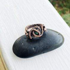 A personal favorite from my Etsy shop https://www.etsy.com/listing/247466909/malachite-oxidized-wire-wrapped-copper