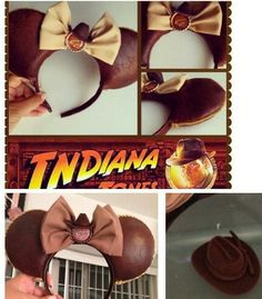 INDIANA JONES -Inspired Minnie Mouse Disney Ears - Source Instagram @ourretroart