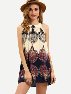 Online shopping for Multicolor Print Sleeveless Bow Blouse from a great selection of women's fashion clothing & more at MakeMeChic.COM.