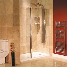 Aqualine 1700 x 800 Walk In Recess Enclosure with Shower Tray