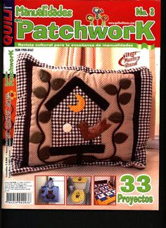 Manualidades en patchwork nº 3 - Zecatelier - Picasa Web Albums. Fabric Crafts, Sewing Crafts, Sewing Magazines, Bird Crafts, Recycled Crafts, Book Quilt, Quilt Art, My Scrapbook, Applique Quilts