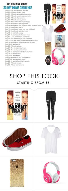 """""""30 day movie challenge"""" by moon-and-back-babe123 ❤ liked on Polyvore featuring Topshop, Vans, Boohoo, Beats by Dr. Dre and Casio"""