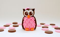 Fondant Owl Cake Topper by Edible Designs By Letty, via Flickr