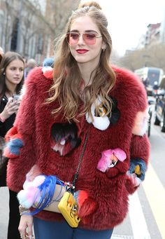 Chiara Ferragni decorates her Fendi Mini Baguette with a Fendi Micro Baguette and a Fendirumi
