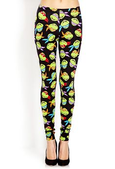TMNT Leggings | FOREVER21 - 2000070065 Can't say I would wear these, but I definitely will appreciate them!