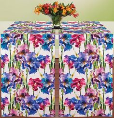 A dramatic floral backdrop for your table in rich vibrant colors.
