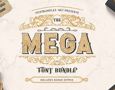 """Check out new work on my @Behance portfolio: """"The Mega Font Bundle - Great Deal"""" http://be.net/gallery/66747625/The-Mega-Font-Bundle-Great-Deal"""