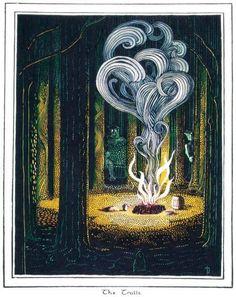 "Tolkien - illustration for The Hobbit Tolkien's own illustrations for his book The Hobbit. ""The Trolls. Jrr Tolkien, Legolas, Thranduil, Fantasy Kunst, Fantasy Art, Midle Earth, O Hobbit, Geeks, Middle Earth"
