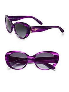 Kate Spade New York - Franca Printed Plastic Cat's-Eye Sunglasses