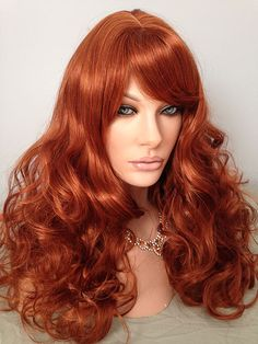 Carlotta Wig, Orange Spice, Wig America, Skin Top, Bouncy Curls