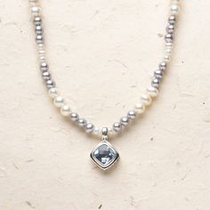 Bali Scroll: Blue Quartz Pearl Beaded Necklace #willowhouse #necklaces #jewelry