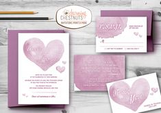 Pink Watercolor Wedding Invitation Set, Printable wedding invitation, Personalized wedding invitation, Pink, Watercolour, Rose