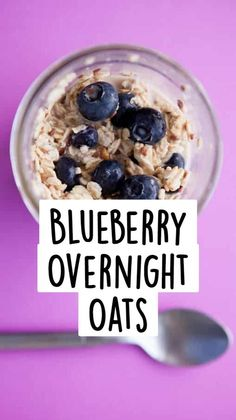 Vegetarian Brunch Recipes, Breakfast Recipes, Breakfast Ideas, Blueberry Overnight Oats, Paleo Overnight Oats, Healthy Make Ahead Breakfast, Paleo Breakfast, Breakfast Slider, Breastfeeding Foods