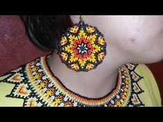 Beaded Flowers Patterns, Beaded Earrings Patterns, Beaded Jewelry Designs, Bead Jewellery, Beading Patterns, Crochet Earrings, Jewelry Making Tutorials, Beading Tutorials, Earring Tutorial