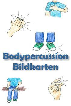 Heute ein Beitrag zum Thema Bodypercussion. Die Bildkarten dienen zunächst zur Einführung der verschiedenen Bewegungen: Schnipsen, Klat...