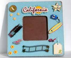 California Travel Frame - Vacation Picture Frames - by AuriesDesigns.etsy.com
