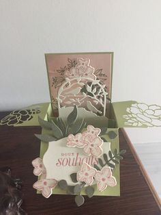 Stampin Up, Art Textile, Textiles, Shaped Cards, Folded Cards, Bliss, Card Ideas, Card Making, Cricut