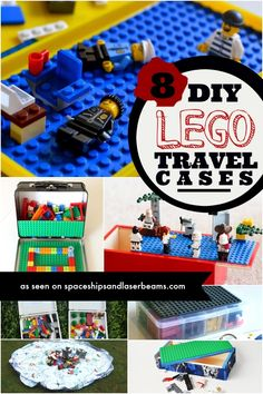 8 DIY Lego Travel Cases to Keep You Organized - Spaceships and Laser Beams Travel Box, Travel Kits, Travel Hacks, Travel Ideas, Legos, Activities For Kids, Crafts For Kids, Sensory Activities, Decor Crafts