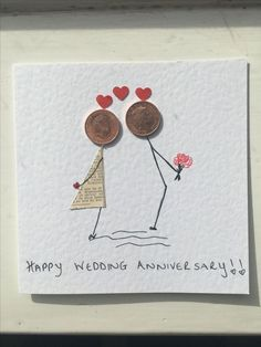 Katie und Tims Hochzeit Katie and Tim's wedding Katie and Tim's wedding Wedding Cards Handmade, Handmade Birthday Cards, Card Birthday, Tarjetas Diy, Diy And Crafts, Paper Crafts, Birthday Gifts For Husband, Button Cards, Homemade Cards