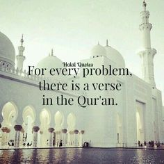 """Subhanallah....It should be an Answer not always an Ayah,some Problems are bigger so you need a bigger picture, but that """"picture"""" lies inside Quran."""