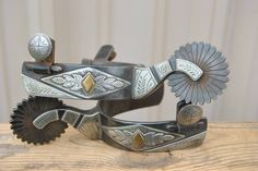 kevin burns buckles | Handmade Double Mounted Spurs - BURNS