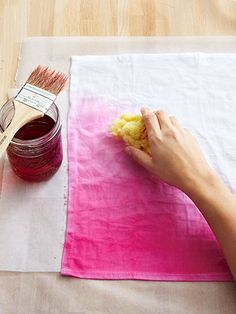 Ombre Dyed Napkins - Easy Easter Craft - Country Living