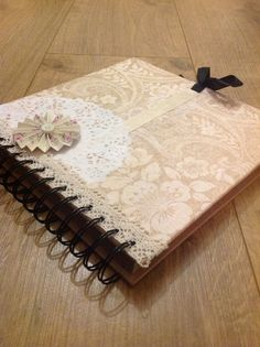 Our handmade guestbook :)  Vintage guest book by VintageWedScrapbooks on Etsy