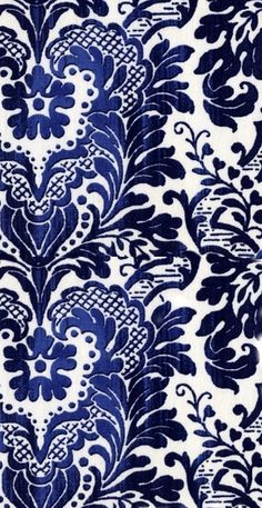 stella linen in blue Curtain Patterns, Textile Patterns, Print Patterns, Textiles, Damask Wallpaper, Pattern Wallpaper, Surface Pattern Design, Pattern Art, Blue And White Fabric