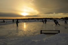 pond hockey-reminds me of growing up and playing for hours :)