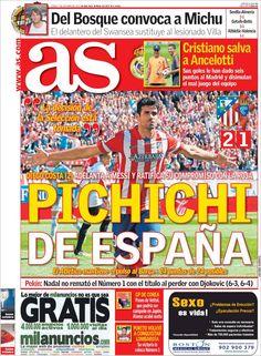 Los Titulares y Portadas de Noticias Destacadas Españolas del 7 de Octubre de 2013 del Diario AS ¿Que le pareció esta Portada de este Diario Español?